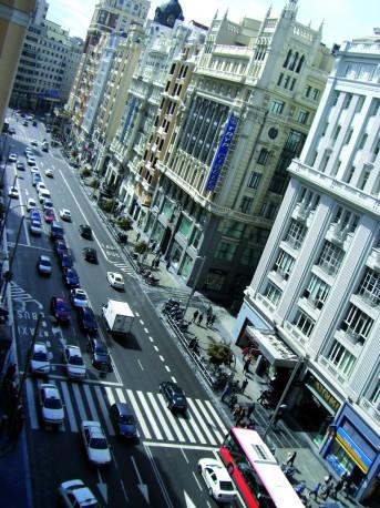 Madrid ist eine der zwei  Millionenstädte von Spanien (© by Daniel/pixelio)