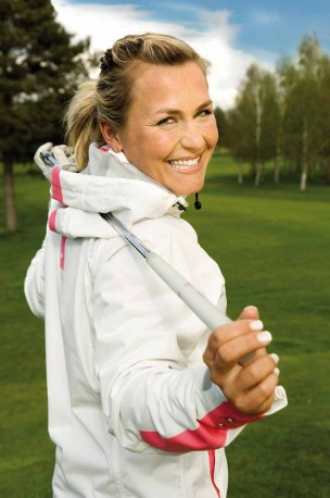 Die wohl bekannteste Golfproette Martina Eberl