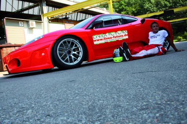 "Orso biancos Rennfahrzeug  ""Ferrari 430 Scuderia GT3"" (Foto: Korbinian Baier)"