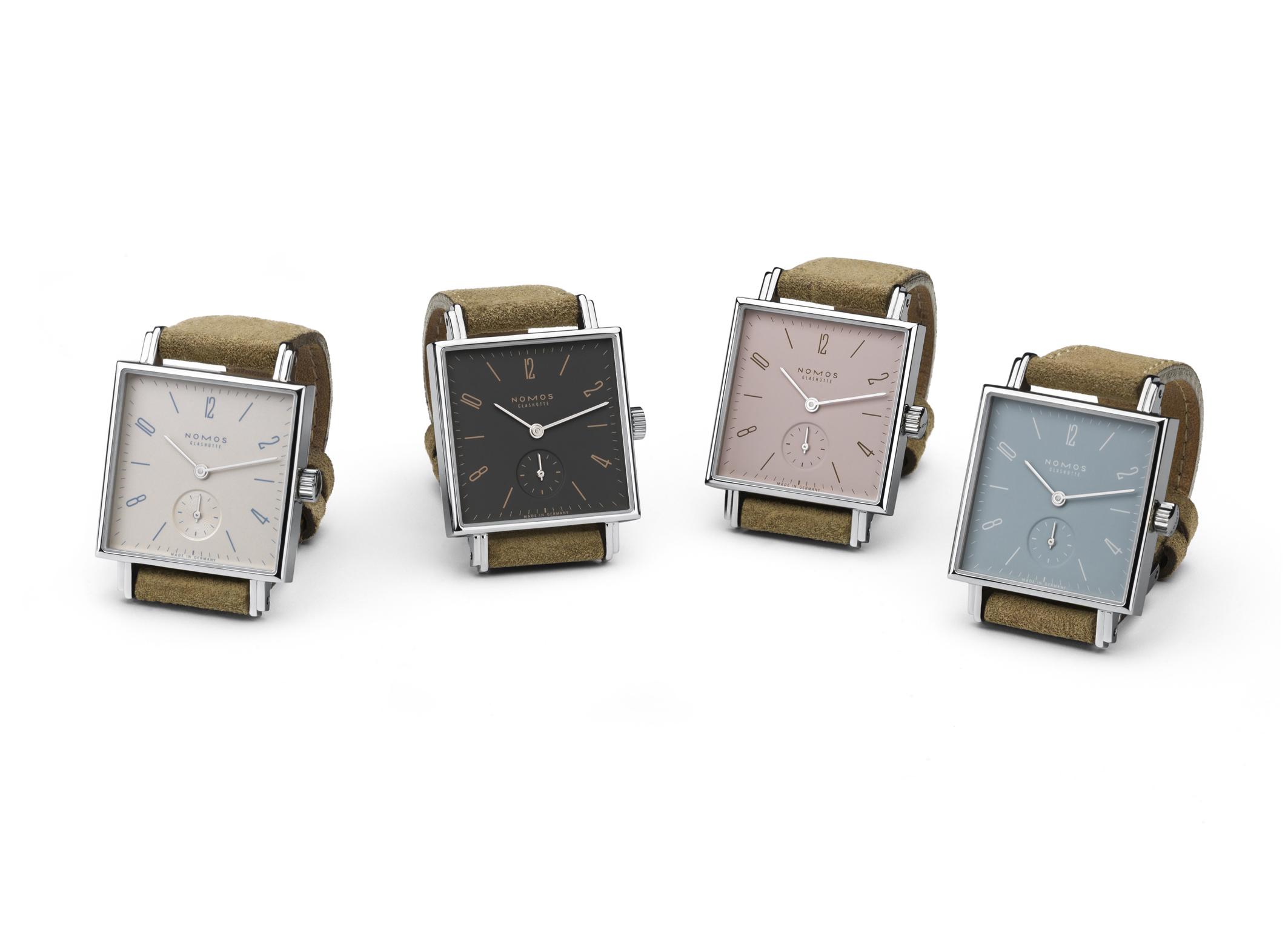 NOMOS Glashütte – Die Tetra tickt seit Juni 2012 in vier neuen Farbvarianten
