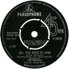 Plattenlabel Beatles - All you need is love
