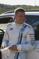 Lukas Podolski WRC Rally Test Italy (Sardinia) 2013© Volkswagen Motorsport
