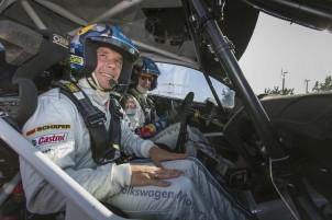 Rallye-Action mit Fußball-Nationalspieler Lukas Podolski